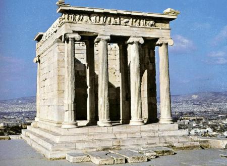 Templo de Atenea Nyke, frente