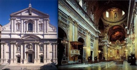 Iglesia del Gesú exrerior e interior