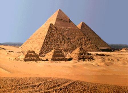 Pirámides de Gizeh, suelo